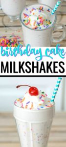 Save yourself time and money on baking an elaborate cake for parties. Instead try this fast and easy 4 Ingredient Homemade Birthday Cake Milkshake Recipe!