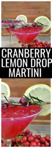 This fresh cranberry lemon drop martini recipe is a little sweet, a little tart, and such an easy cocktail to make. You'll make your own simple syrup using cranberries, water, and sugar as the base for this martini recipe.