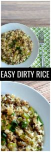 Don't sacrifice time or flavor on your next Cajun feast with this Easy Dirty Rice recipe! Delicious one pot meal or Thanksgiving side dish.