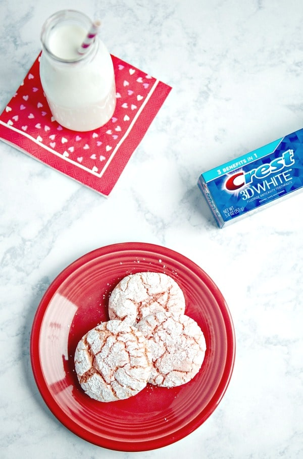 Pink crinkle cookies recipe for Valentine's Day