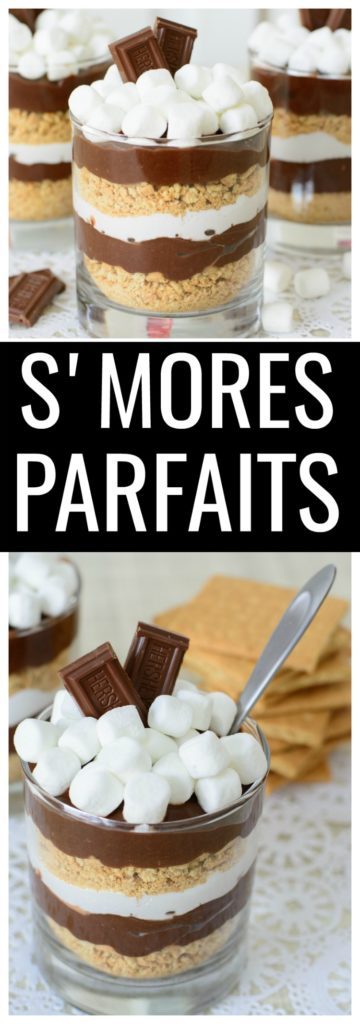 Getting the flavor of your favorite summer flavors has never been easier with this easy no cook s'mores parfait recipe. No cooking and only six ingredients!