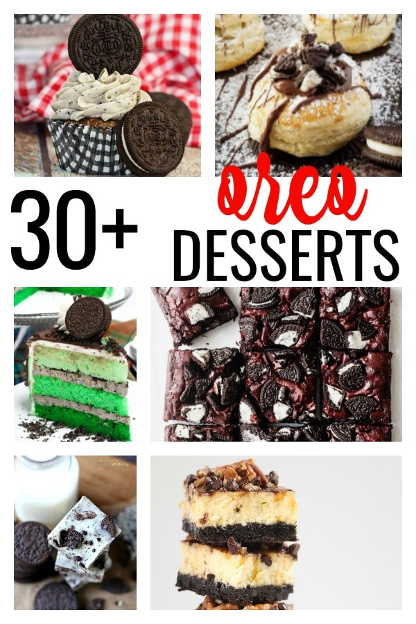 Take dessert to the next level with the 33 best Oreo desserts. From Oreo cupcakes and brownies to fudge and cakes, there's an Oreo recipe for you! #oreoballs #oreodesserts #oreocake #oreocupcakes #oreotruffles #oreorecipes #desserts