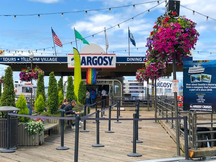 Argosy Cruises Seattle Ferry entrance.