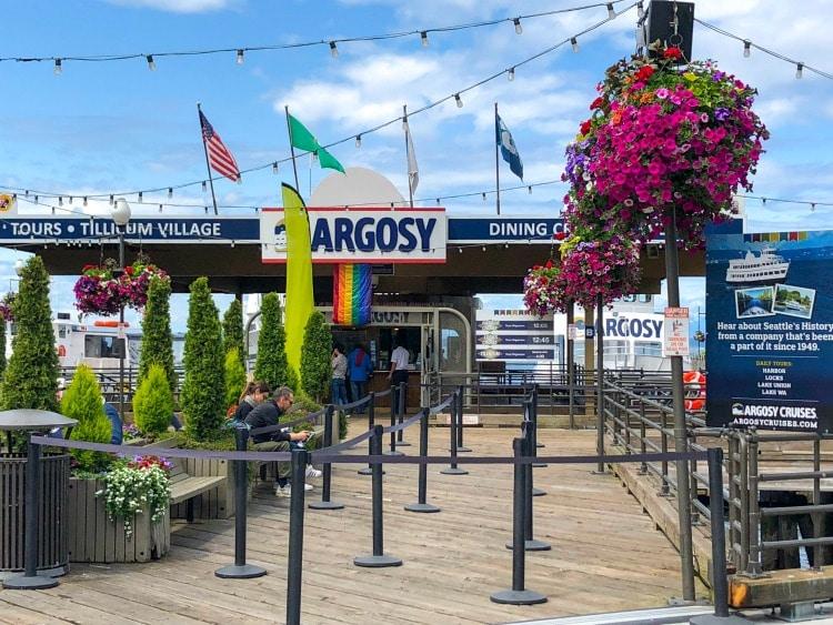 Argosy Cruises Seattle Ferry entrance.