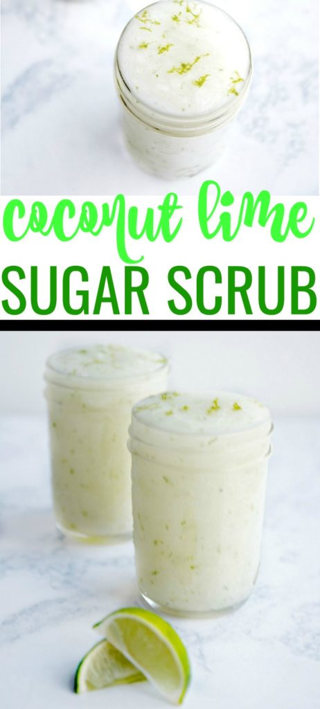 Get your skin ready for summer with this easy coconut lime sugar scrub recipe! It uses just 3 ingredients and your skin soft and glowing.