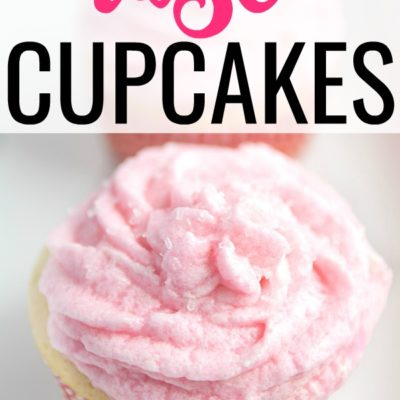 Rosé Wine Cupcakes with Rosé Buttercream Frosting Recipe for Galentine's Day