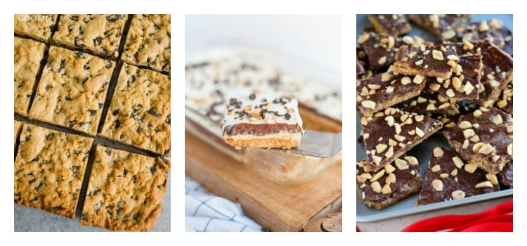 Creative peanut butter dessert recipes.
