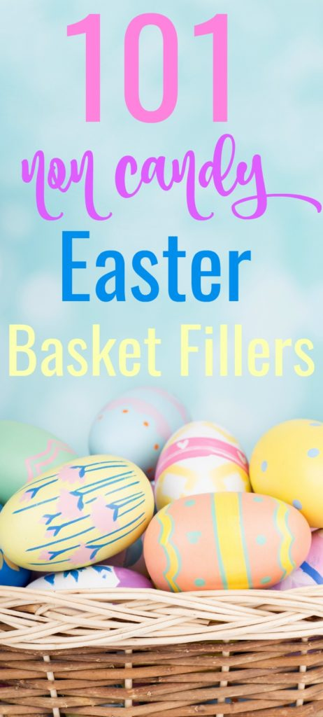 Don't just fill your kids with sugar and chocolate this year, instead check out these 101Non Candy Easter Basket Ideas. These are all fun and useful Easter basket stuffers that kids will love!