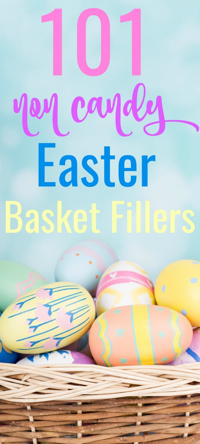 Don't just fill your kids with sugar and chocolate this year, instead check out these 101 Non Candy Easter Basket Ideas. These are all fun and useful Easter basket stuffers that kids will love!