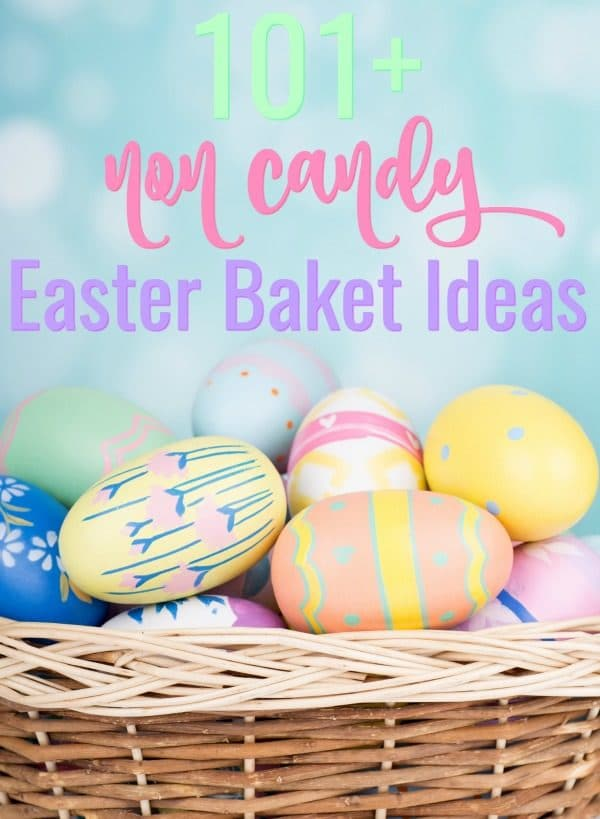 Don't just fill your kids with sugar and chocolate this year, instead check out these 101Non Candy Easter Basket Ideas. These are all fun and useful Easter basket stuffers that kids will love! #easterbaksketideas #easter #easterbasketfillers