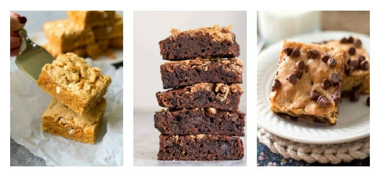 3 peanut butter brownies recipes.