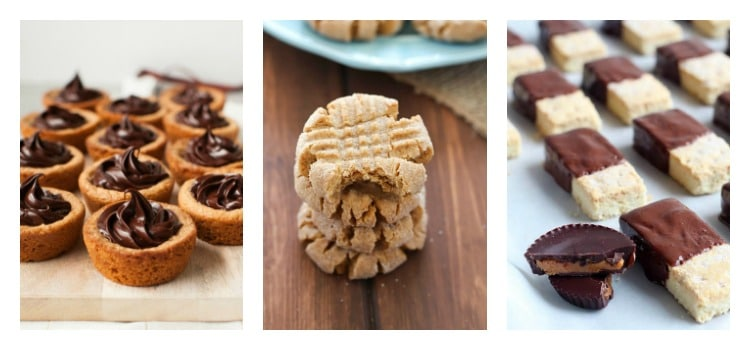 Peanut butter cookie collage.