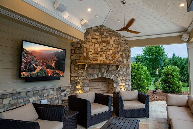 SunBrite Veranda Series 4K TV Outdoor Living Area