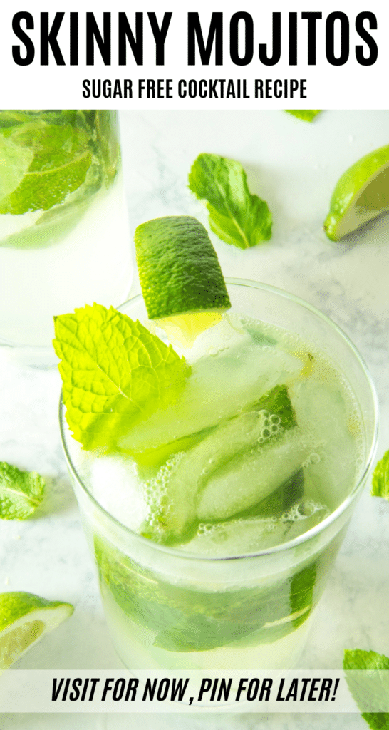 This Skinny Mojito recipe is easy to put together and tastes amazing! This low carb alcoholic drink is perfect for summer and special diets like sugar-free, Keto, and low carb. #ad #SummerGrilling #ToraniFlavor #joyjolt