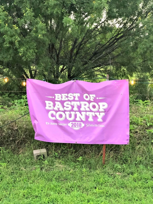 Best of Bastrop County Sign