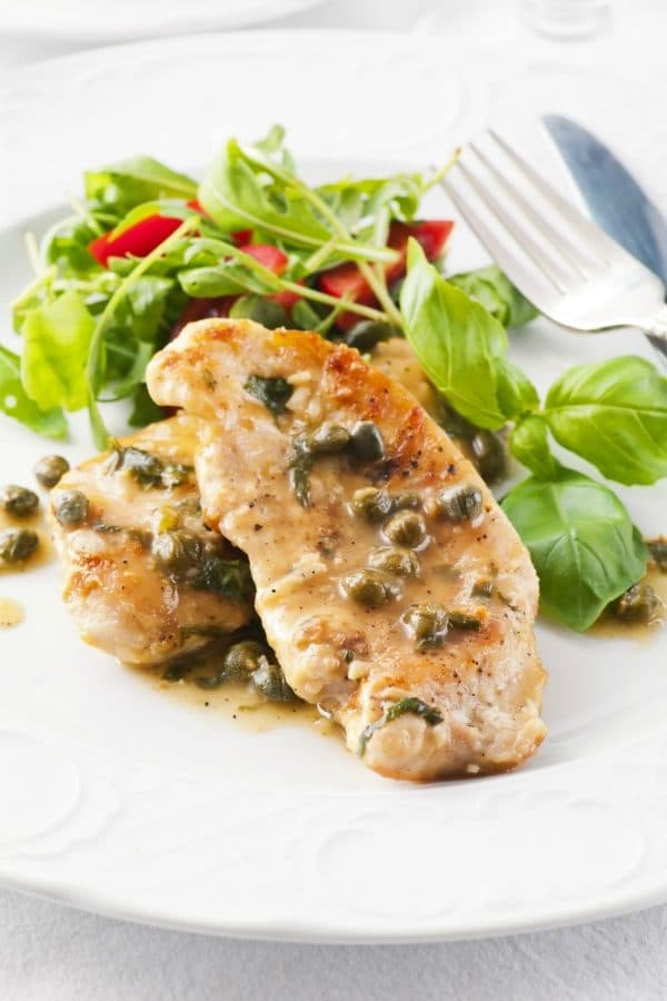 My family loves this Mediterranean chicken recipe and yours will too. This lemon caper chicken recipe is creamy, comforting, and amazing.