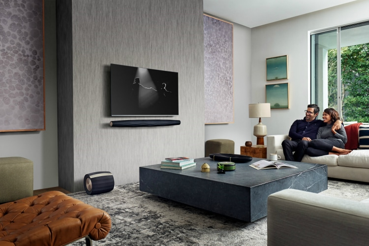 Bowers & Wilkins Speaker System in Living Room