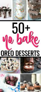 If you love Oreo cookies, you'll love this collection of 50+ No Bake Oreo Desserts! From Oreo truffles to Oreo cheesecake, there are tons of Oreo dessert recipes for every occasion.