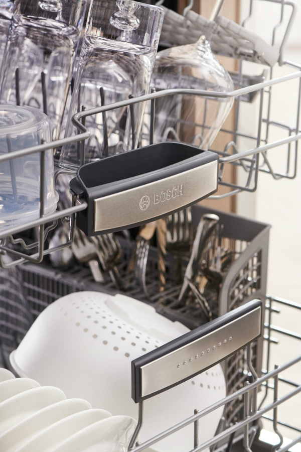 Dishwasher loading tips for clean dishes.