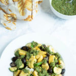 Cilantro chimichurri roasted vegetables recipe photo