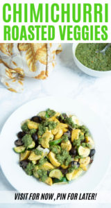 Cilantro chimichurri roasted vegetables recipe photo