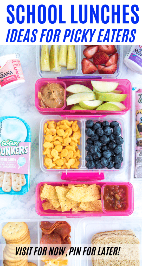 Coming up with school lunch ideas for picky eaters isn't always easy. This is your guide to easy school lunches that picky eaters will eat!