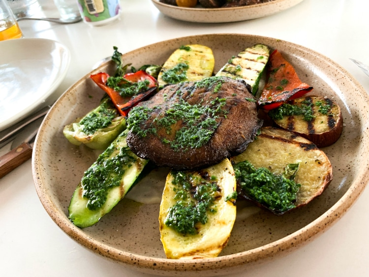 Yuyo restaurant vegetables a la brasa