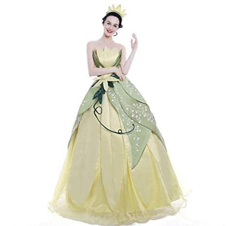 Hand Sewn Princess Tiana Costume for Adults