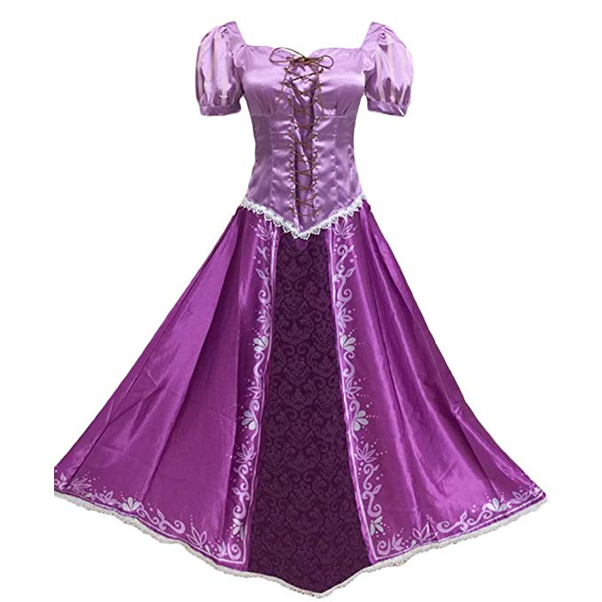 Tangled Purple Dress Princess Rapunzel Costume Adult