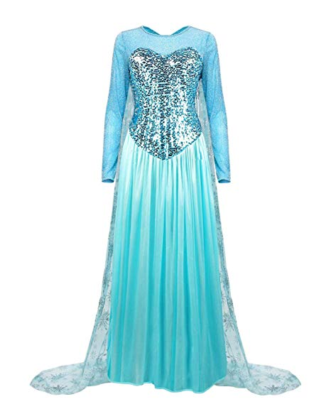Colorfog Women's Elegant Princess Dress Cosplay Costume Xmas Party Gown Fairy Fancy Dress