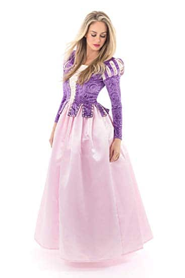 Little Adventures Deluxe Rapunzel Dress-Up Costume for Adult Women