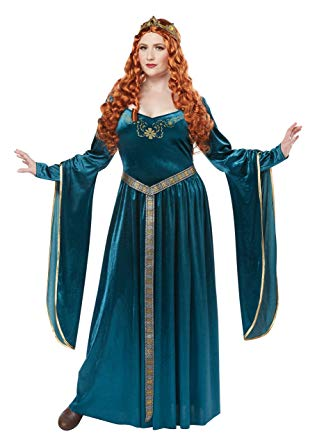 California Costumes Women's Size Lady Guinevereadult Plus-Teal