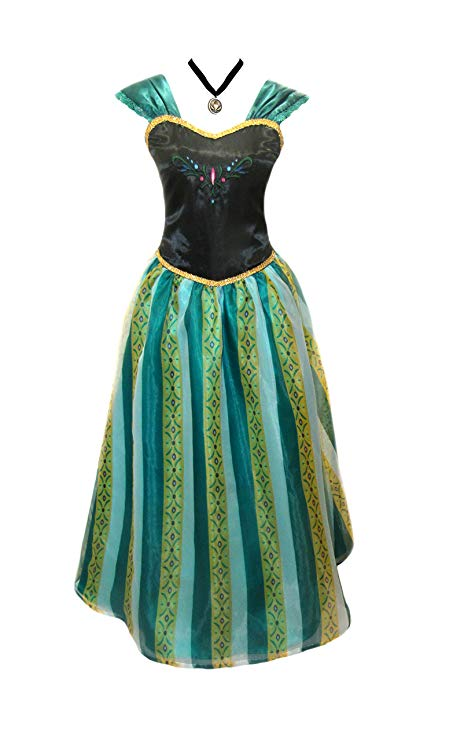 Womens Frozen Anna Coronation Dress Elsa Costume Princess and Accessories