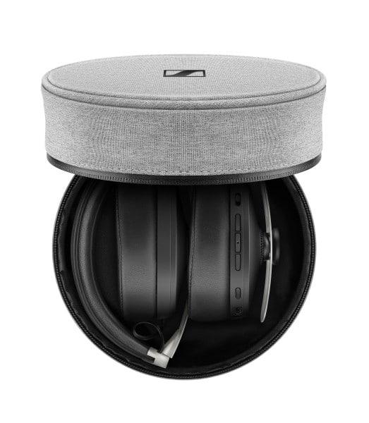 New Sennheiser M3 Momentum Noise Cancelling Wireless Headphones folded up in case
