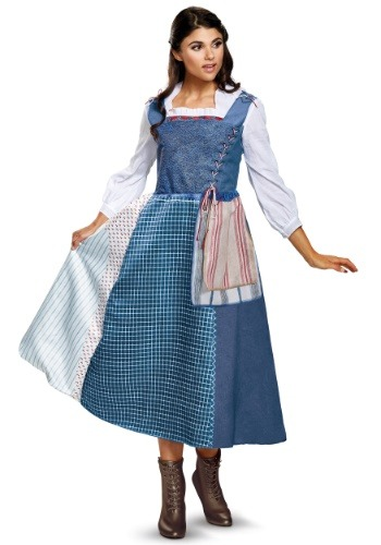 Belle Costume Women Village Dress Deluxe