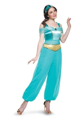 Disney Aladdin Deluxe Princess Jasmine Costume for Adults