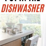 dishwasher with dishes on counter in airy kitchen