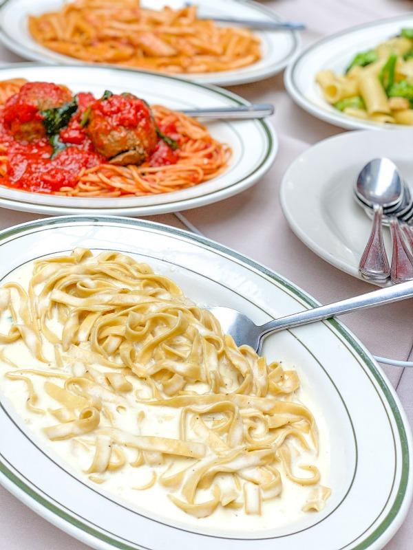Fettuccini Alfredo from La Mela in Little Italy