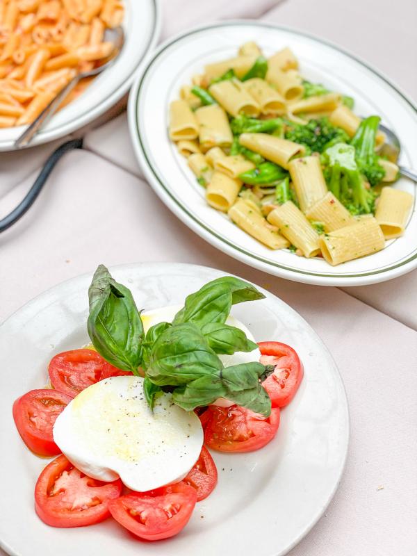 Italian food at La Mela restaurant in New York City