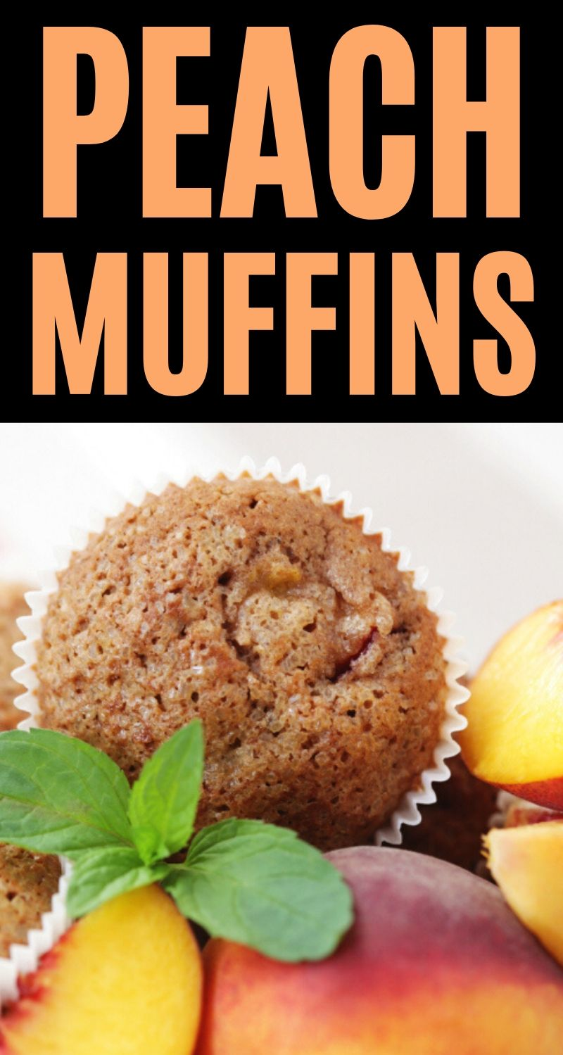 Peach Muffins labeled photo