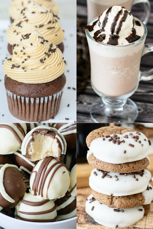 Collage of four Bailey's Dessert Recipes