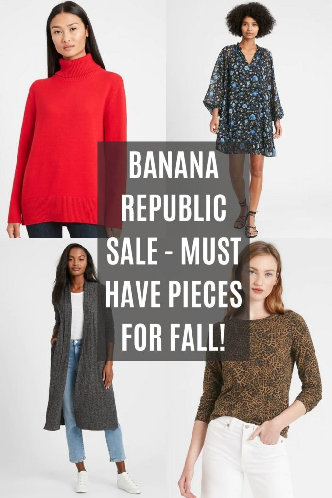 Banana Republic Friends & Family Sale Collage with Text Overlay
