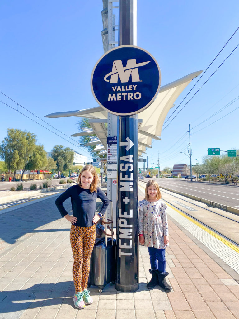Girls Waiting for Valley Metro in Tempe