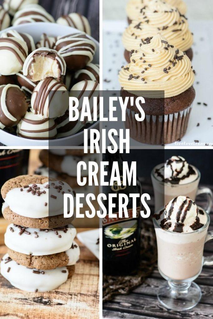labeled Bailey's Irish Cream Desserts Roundup collage