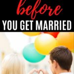 19 Questions to Ask Before Getting Married hero photo with text overlay