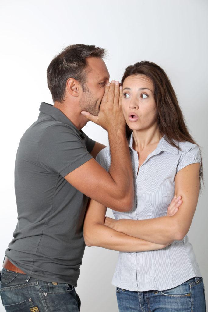 couple sharing secrets